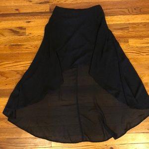 Forever 21 black hi-low skirt. Size XS.